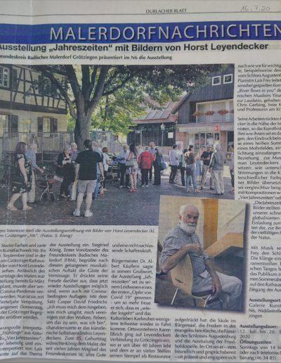 Kritik Durlacher Blatt 2020-07-16